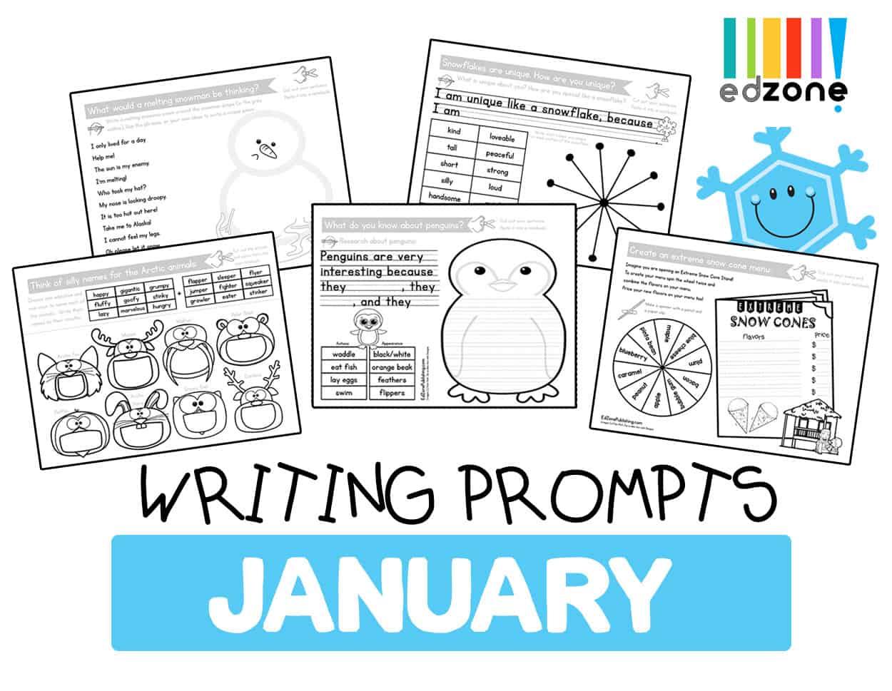 Januarykindergartenwritingprompts