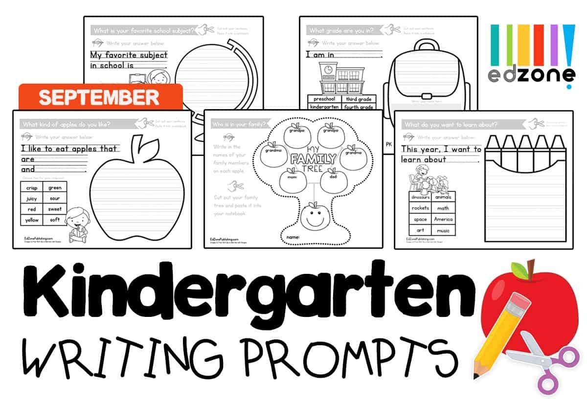 Kindergartenwritingpromptseptember