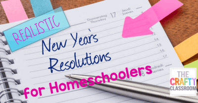 Homeschool New Year's Resolutions