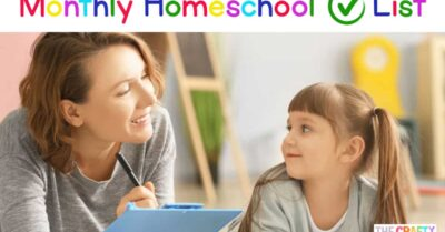 Homeschool Checklist by Month