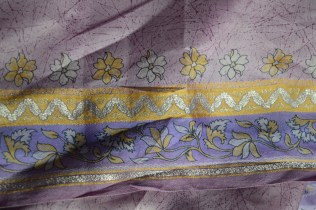 Sewing a Silk Sari