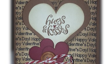 Valentine's Day Card - Hearts Hugs and Kisses
