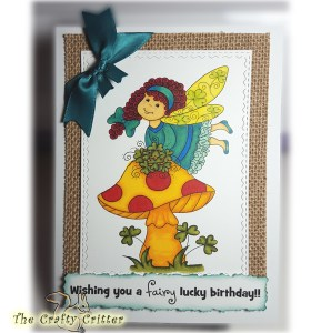 Handcrafted Birthday Card - Clover Fairy