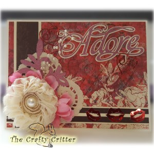 Handcrafted Valentine's Day Card - Adore