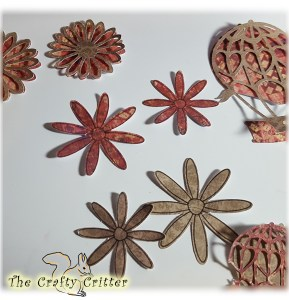 Die Cut Flowers and Balloons