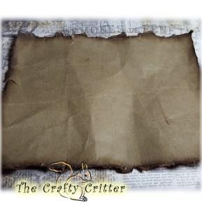 Distressed Brown Paper