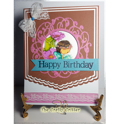 Handcrafted birthday card flower fairy the crafty critter home birthday cards cards handcrafted birthday card flower fairy bookmarktalkfo Images