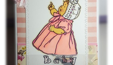 New Baby Card - Vintage Baby