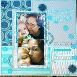 Stephanie Sierra Blumberg: 3 arrows, 3+ patterned papers (most of these papers are over a year old, teal and grey, n-s-e-w sign. Background paper is cardstock.
