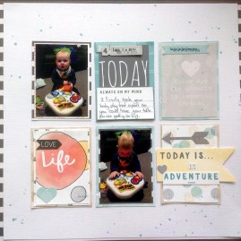 Rebekah Alderson: Scrap lifted off Pinterest a layout saved to Cocoa Daisy.