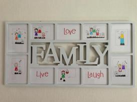 7. Black Shoe family frame