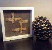 Sian Rudkin Crafts scrabble tile picture