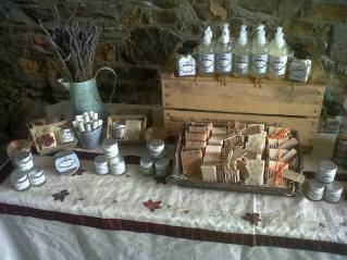 1. The Little Cornish Soap Company display