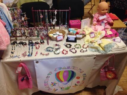12. Rainbow Sparkles Crafts stall