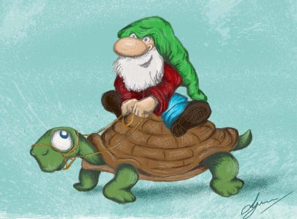 2. Lynn Adams Illustration elf on tortoise