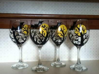 Jacqui's Unique Designs ~ Halloween glasses