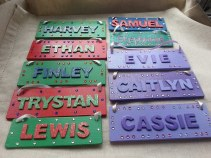 6. Well House crafts name plaques