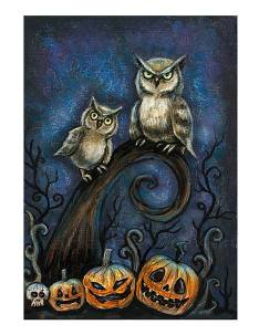 8. Diane Levin Art Halloween night print