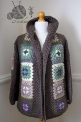 8. L J Crochet cardigan