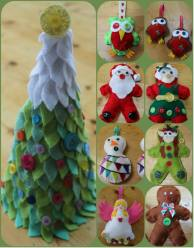 7. Paintbox christmas decorations