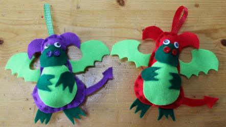 7. Paintbox felt dragons