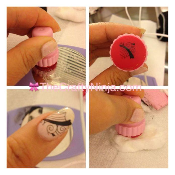 Konad Nail Art Stamping Step 2