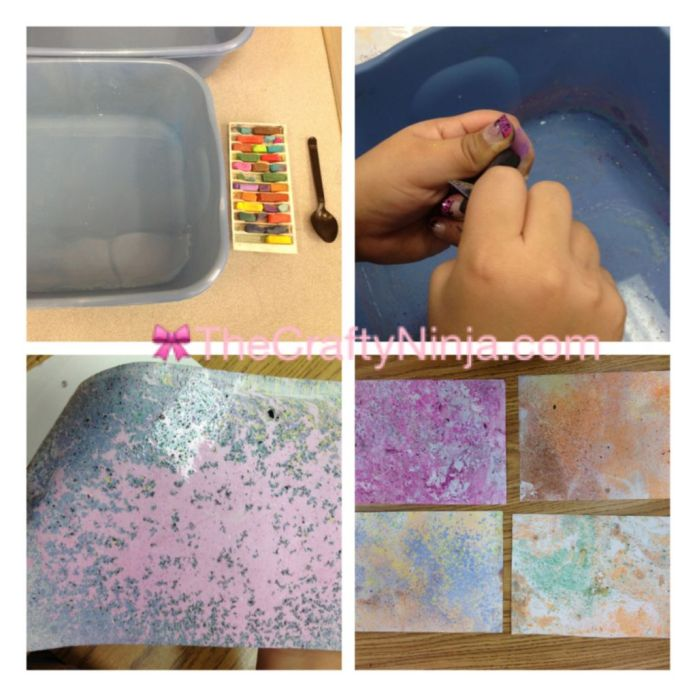 How to Marblize Paper with Chalk Pastel