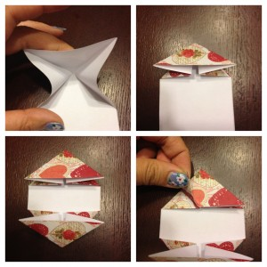origami heart step 2
