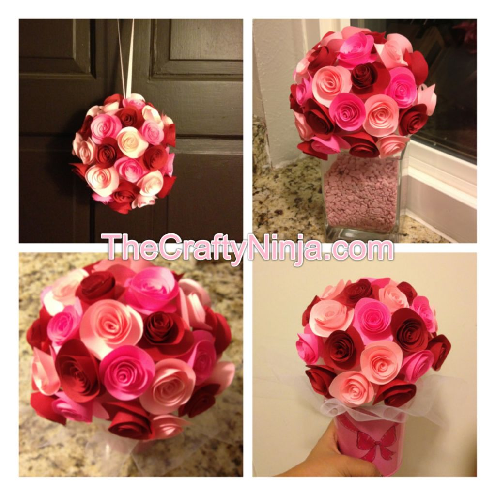 Cute Paper Flower Bouquet ⋆ Fun Thrifty Mom | 1024x1024