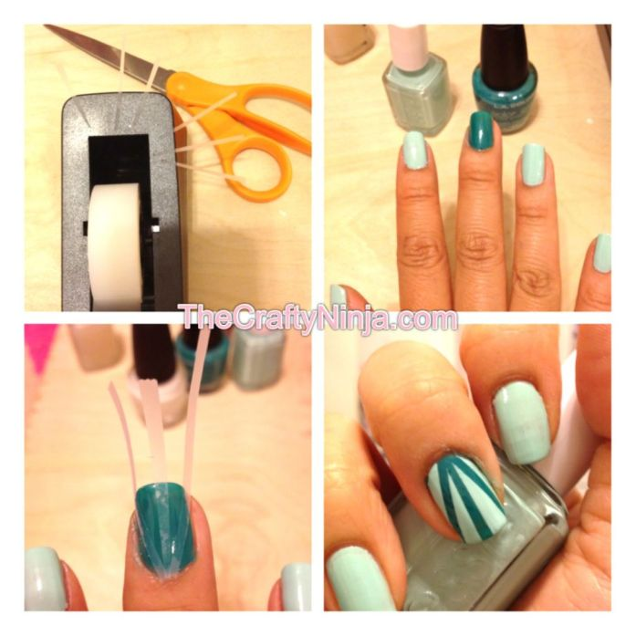 essie mint candy apple sun rays