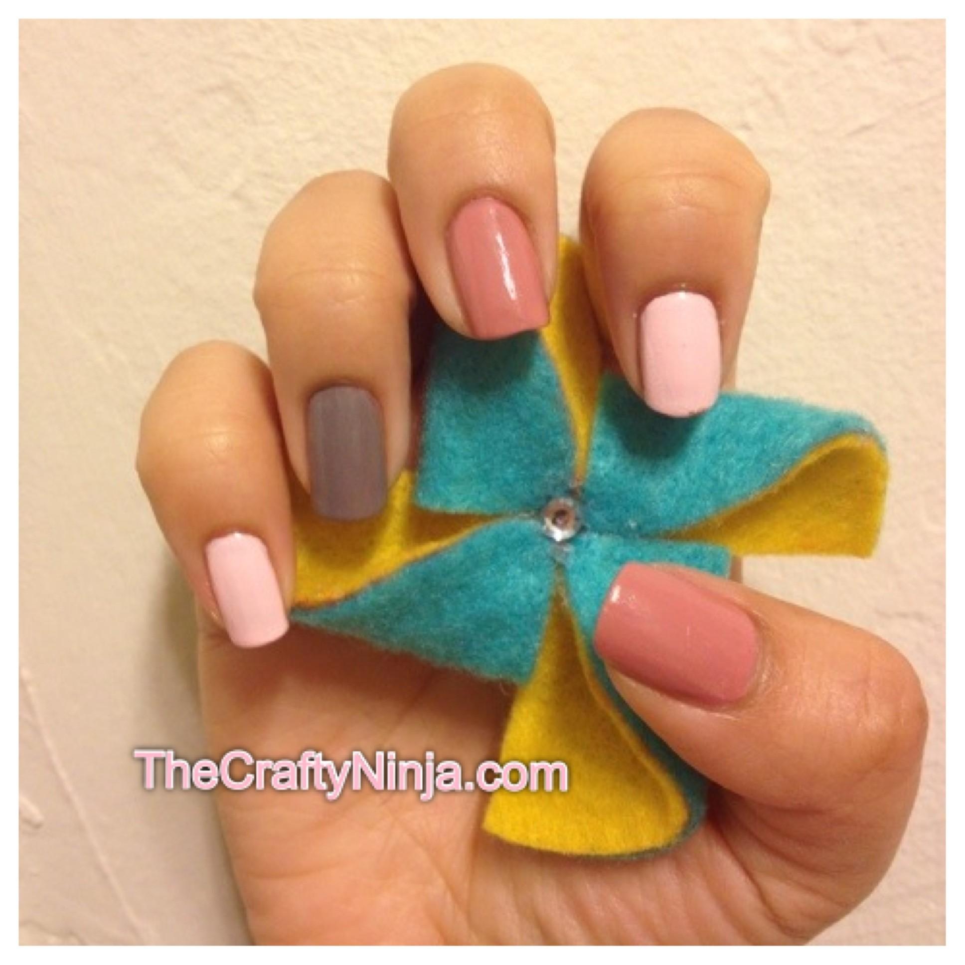 essie pastel nails