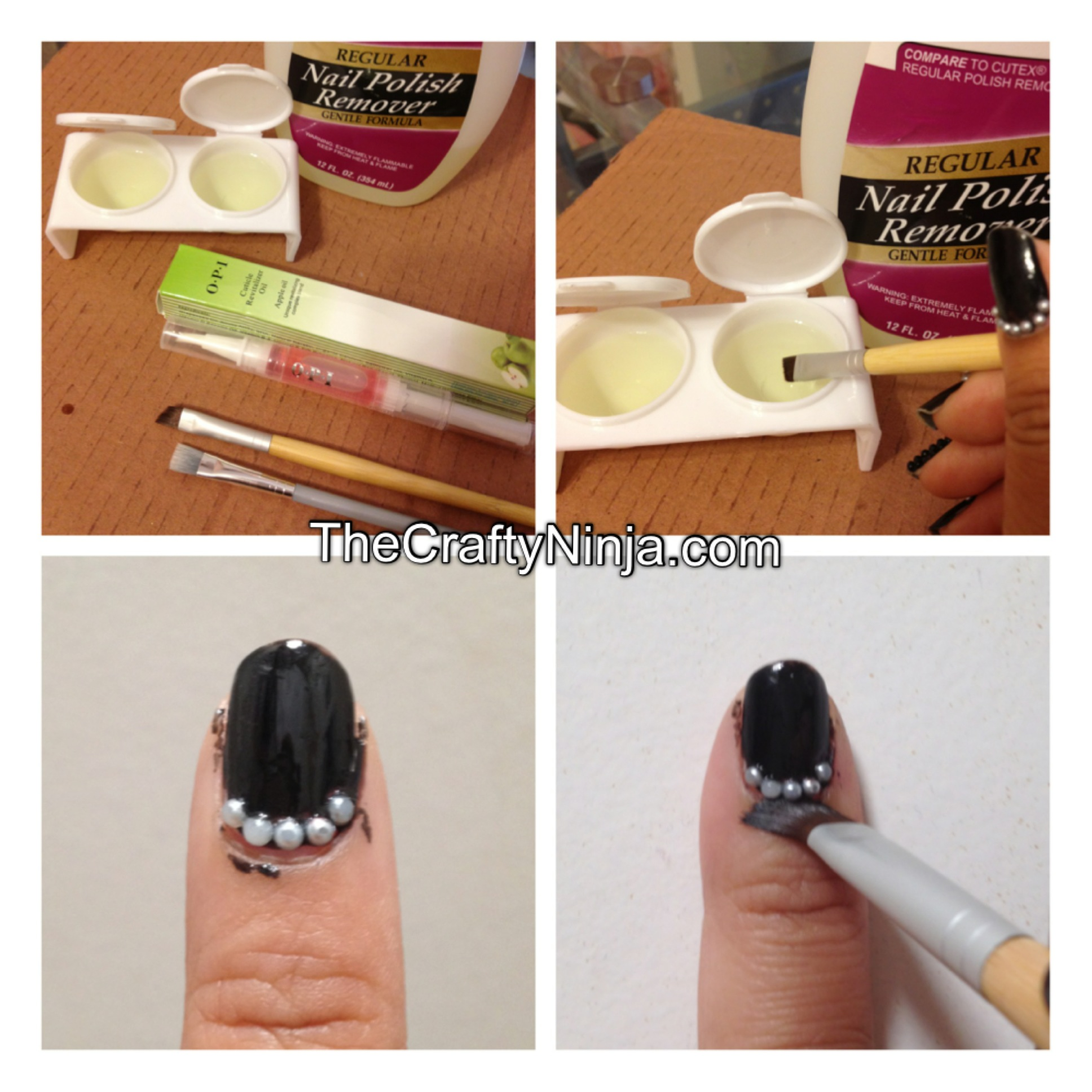 Clean Up Messy Nail Polish | The Crafty Ninja