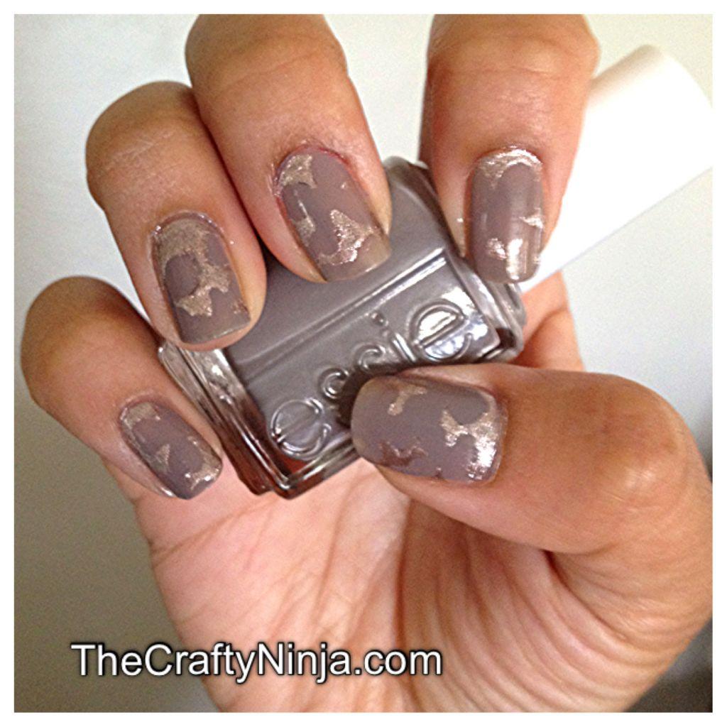 Nail Art Using Painters Tape: Craft Punch Nail Art