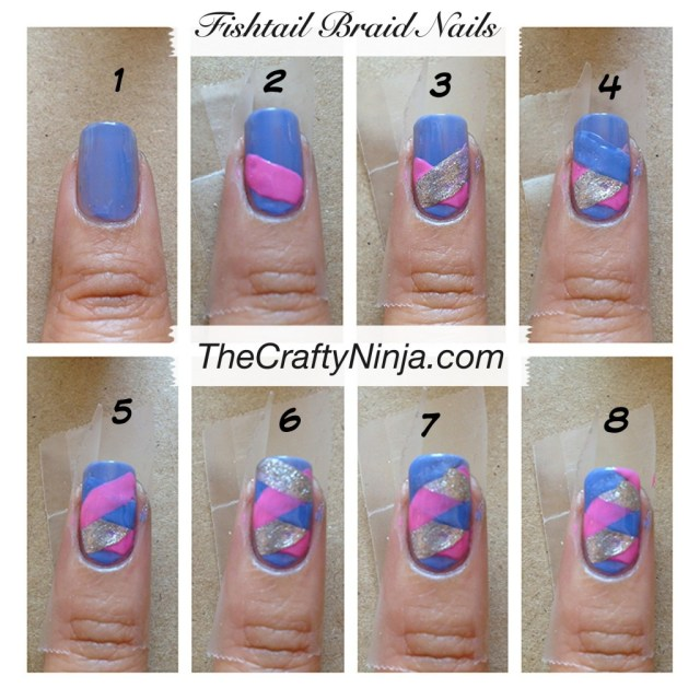 diy fishtail braid nail steps
