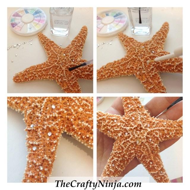 diy starfish clip