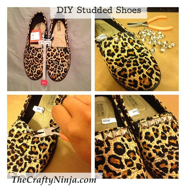 diy studded shoes