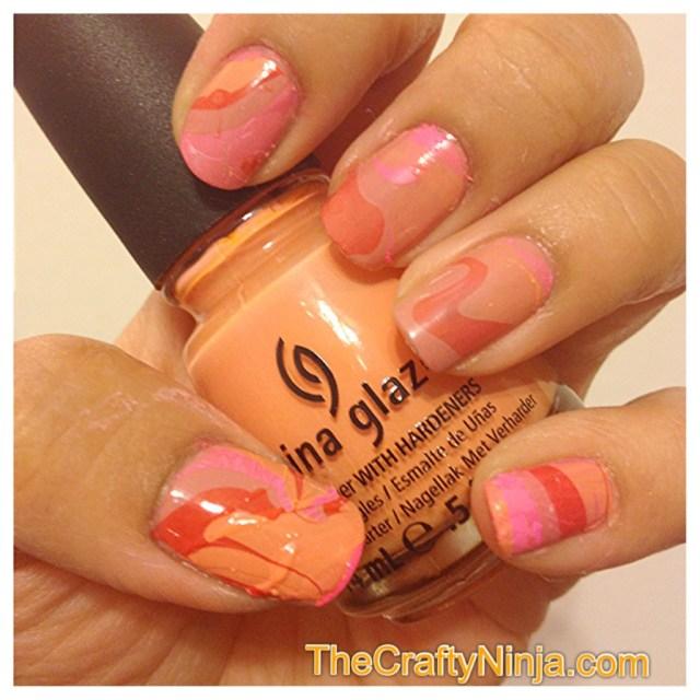 diy water marbling nails