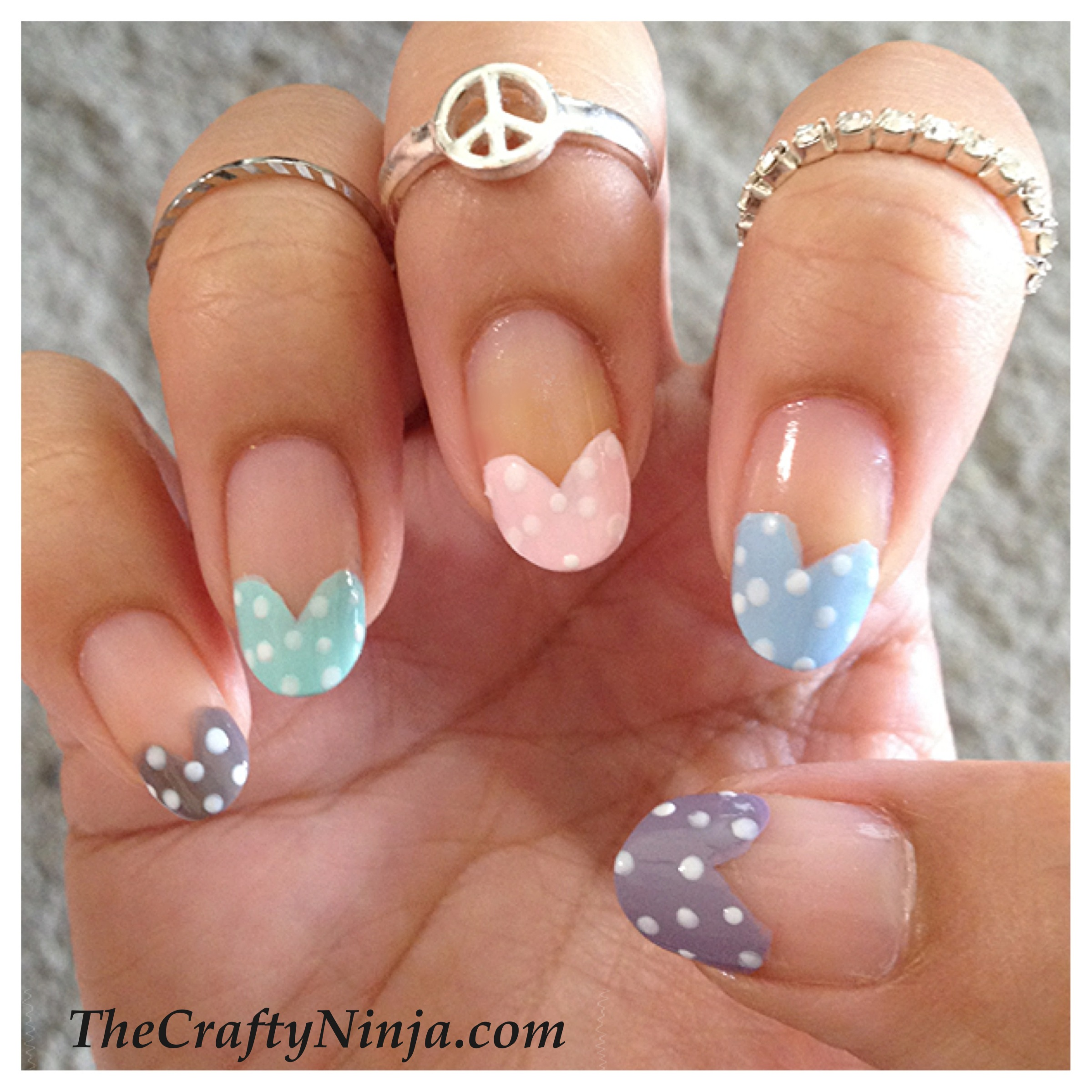Heart Tip Nails | The Crafty Ninja