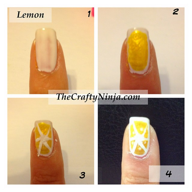 lemon nail tutorial