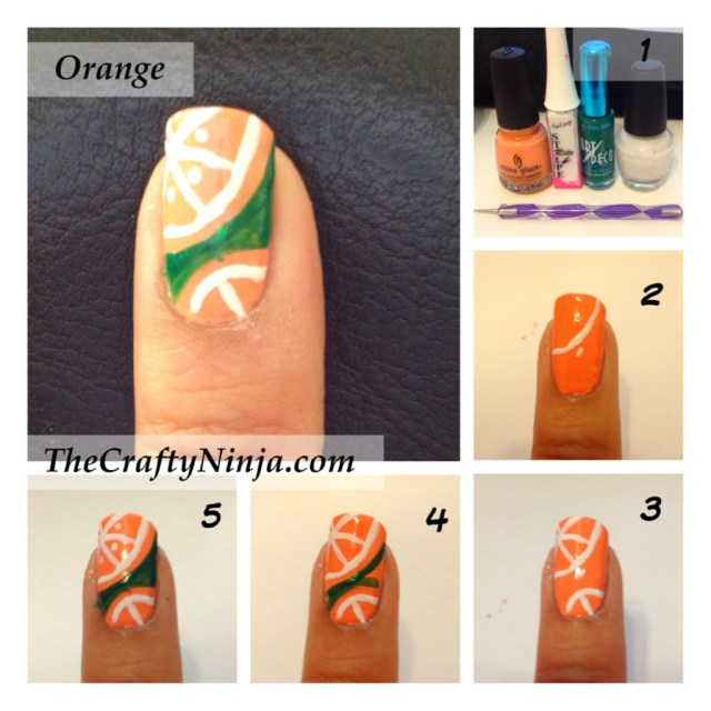 orange nail tutorial