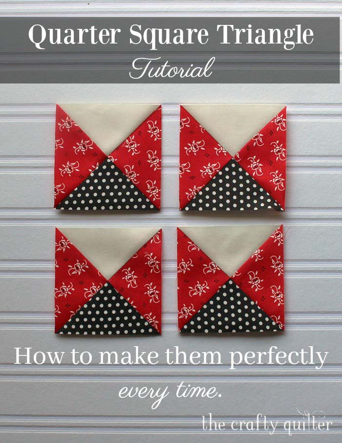 Quarter Square Triangle Tutorial by Julie Cefalu @ The Crafty Quilter