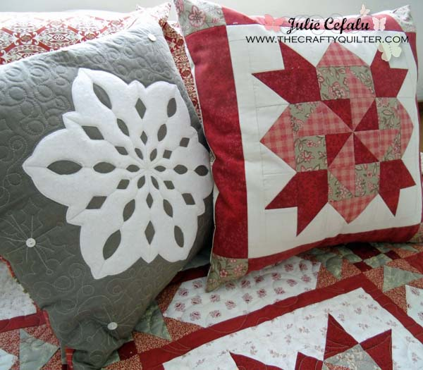 Snowflake pillow at The Crafty Quilter