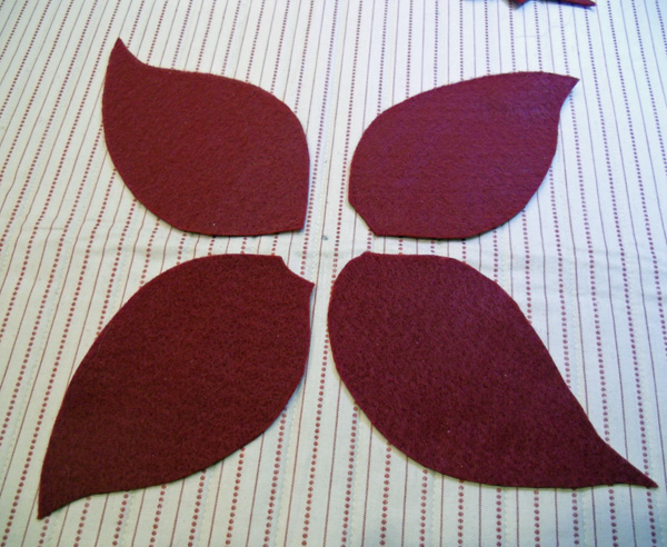 poinsettia petals placement