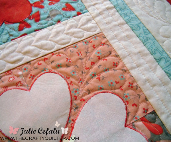 Flirtatious Quilting Detail at The Crafty Quilter
