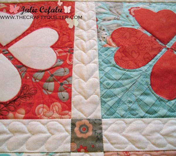 Flirtatious quilting details at The Crafty Quilte