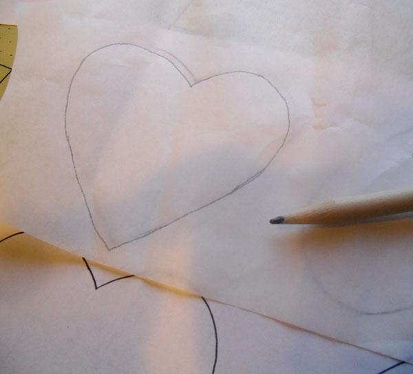 Heart shape traced