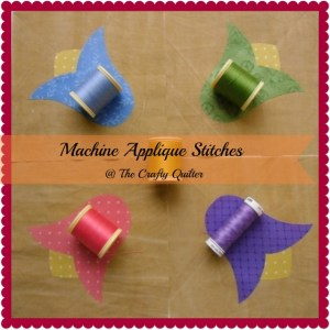 Machine Applique Stitches @ The Crafty Quilter