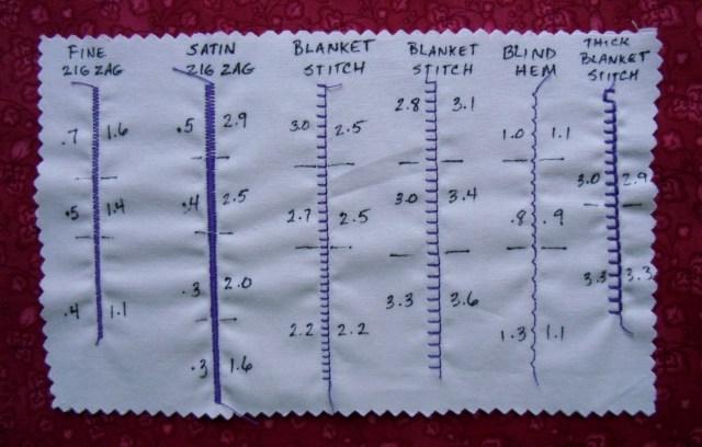 Sample Stitch card Bernina