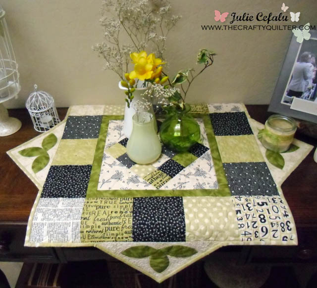 Spring Table Topper made by Julie Cefalu