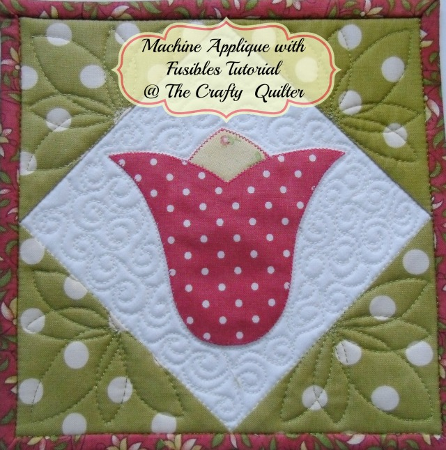 Machine Applique Tutorial @ The Crafty Quilter